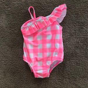 NWOT bathing suit with ruffle